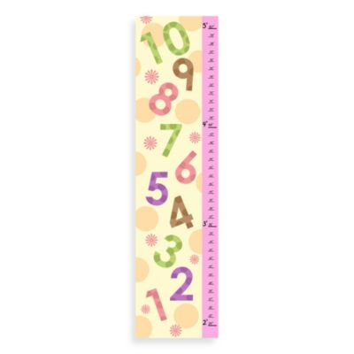 Green Leaf Art Girls Numbers Growth Chart