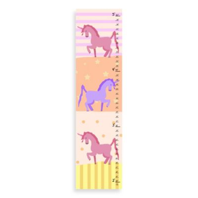 Green Leaf Art Unicorns Growth Chart
