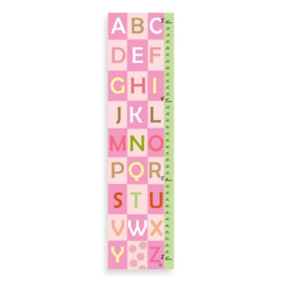 Green Leaf Art ABC Girls Growth Chart