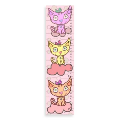 Green Leaf Art Kitties Growth Chart