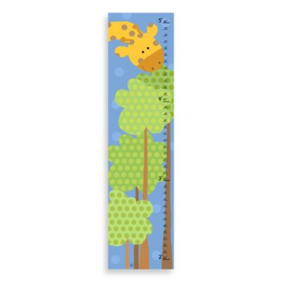 Green Leaf Art Giraffe And Tree Growth Chart