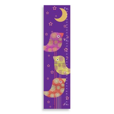 Green Leaf Art Birds and Moon Growth Chart