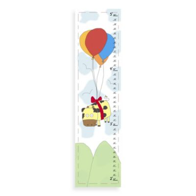 Green Leaf Art Cow & Balloons Growth Chart