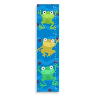 Green Leaf Art Happy Frogs Growth Chart