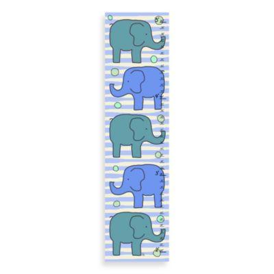 Green Leaf Art Elephants Growth Chart
