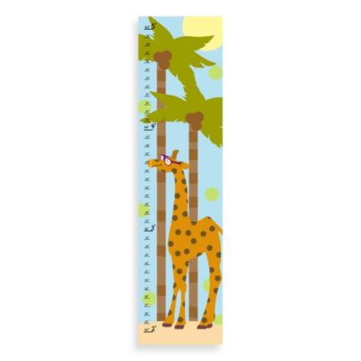 Green Leaf Art Summer Giraffe Growth Chart