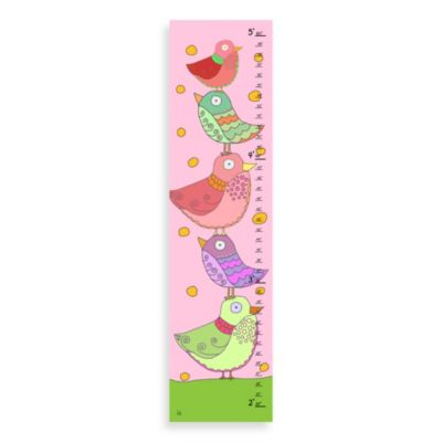 Green Leaf Art Stacked Birds Growth Chart