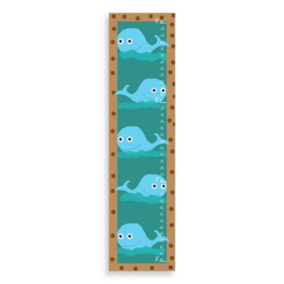 Green Leaf Art Whales Growth Chart