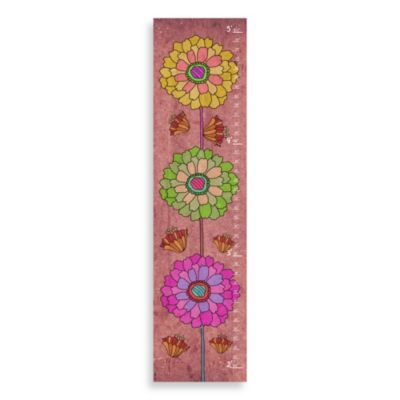 Green Leaf Art Stacked Flowers Growth Chart