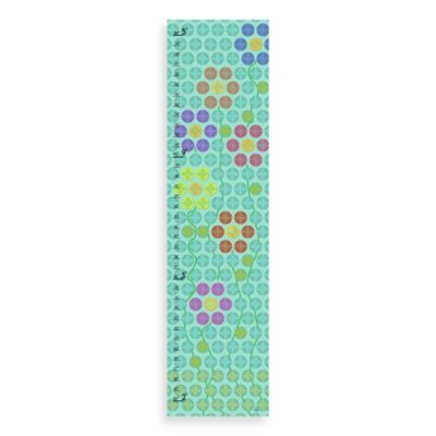 Green Leaf Art Floral Pattern Growth Chart