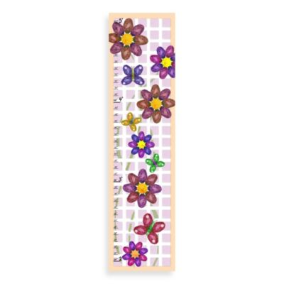 Green Leaf Art Flowers & Squares Growth Chart