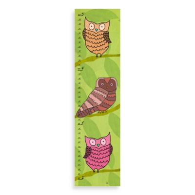 Green Leaf Art Owls On Green Growth Chart