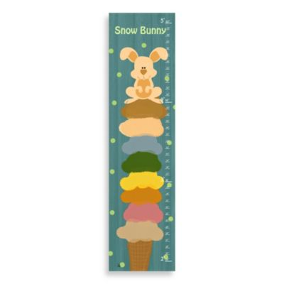 Green Leaf Art Snow Bunny Growth Chart