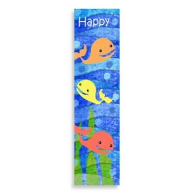 Green Leaf Art Happy Whales Growth Chart