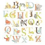 WallPops!® Alphabet Zoo Wall Art Kit