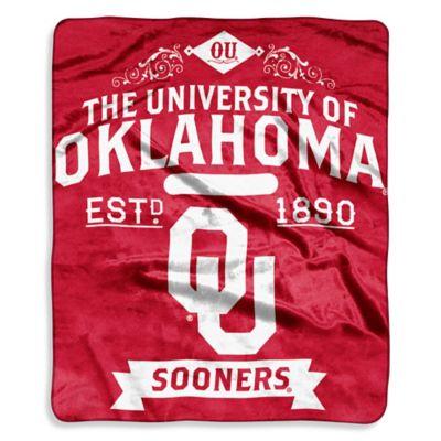 University of Oklahoma Raschel Throw