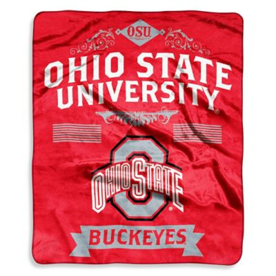 Ohio State University Raschel Throw