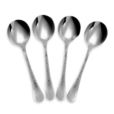Ginkgo Lafayette Stainless Steel Bouillon Spoon (Set of 4)