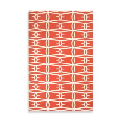 Anderson Lattice Rug 8-Foot x 11-Foot in Coral