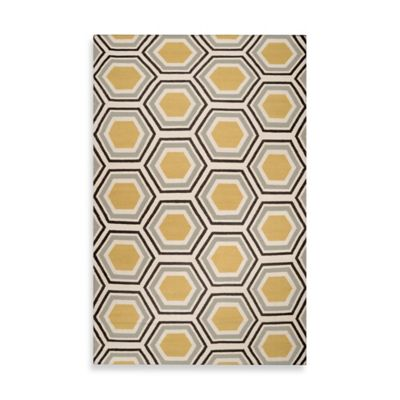 Andrews Honeycomb Rug in Light Blue