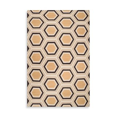 Andrews Honeycomb Rug 3-Foot 6-Inch x 5-Foot 6-Inch in Black