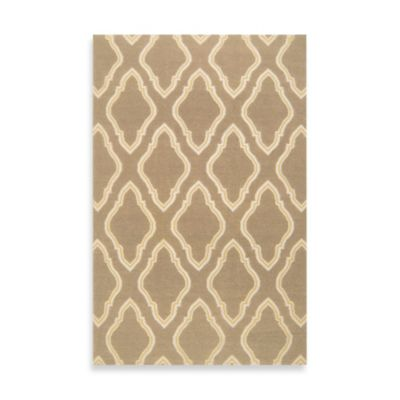 Anna Geometric Runner 2-Foot 6-Inch x 8-Foot in Taupe