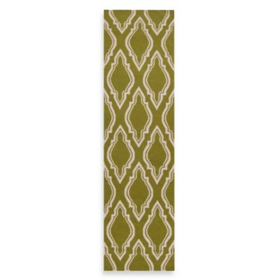 Surya Anna Geometric Runner 2-Foot 6-Inch x 8-Foot in Olive