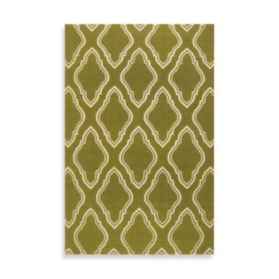 Surya Anna Geometric Rug 3-Foot 6-Inch x 5-Foot 6-Inch in Olive