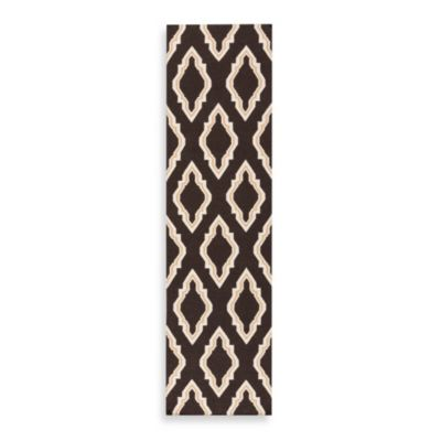 Surya Anna Geometric Runner 2-Foot 6-Inch x 8-Foot in Black