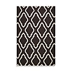 Anna Geometric Rug in Black
