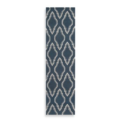 Surya Anna Geometric Runner 2-Foot 6-Inch x 8-Foot in Slate