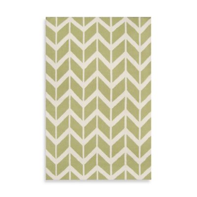 Anton ZigZag Rug 8-Foot x 11-Foot in Lime