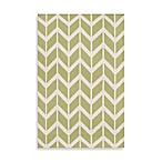Anton ZigZag Rug in Lime