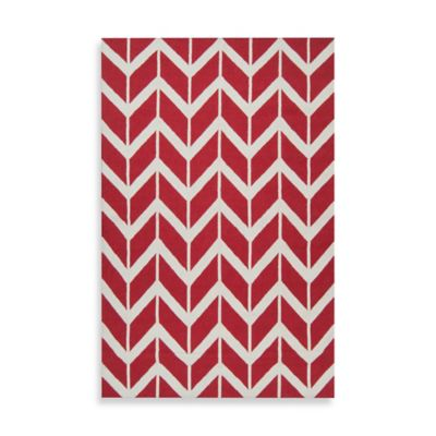 Anton ZigZag Rug 3-Foot 6-Inch x 5-Foot 6-Inch in Red