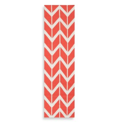 Surya Anton ZigZag Runner 2-Foot 6-Inch x 8-Foot in Poppy