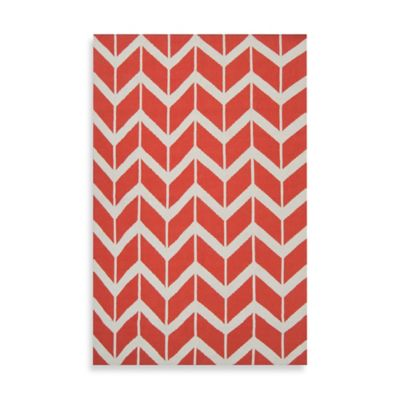 Anton ZigZag Rug 5-Foot x 8-Foot in Poppy