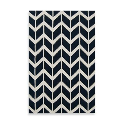 Anton ZigZag Rug 3-Foot 6-Inch x 5-Foot 6-Inch in Federal Blue
