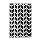 Anton ZigZag Rug in Federal Blue