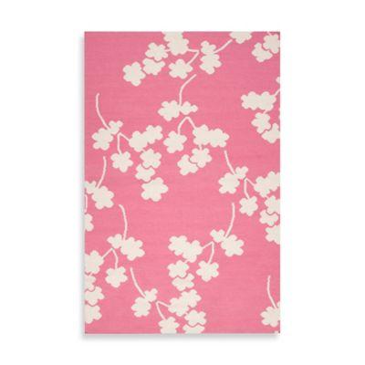 Atlanta Floral Rug 8-Foot x 11-Foot in Flamingo Pink
