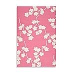 Atlanta Floral Rug in Flamingo Pink