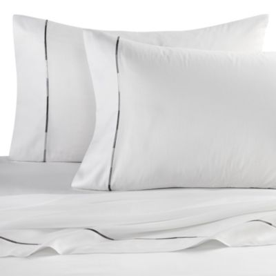 Kenneth Cole Reaction Home Baratta Stitch Queen Sheet Set in White