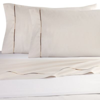 Kenneth Cole Reaction Home Baratta Stitch Queen Sheet Set in Cream