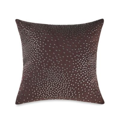 Kenneth Cole Reaction Home Hotel Studded Square Toss Pillow in Neutral
