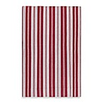 Surya Farmhouse Stripes Rug in Red/Ivory