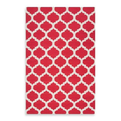 Evesham 2-Foot 6-Inch x 8-Foot Runner in Venetian Red/Oatmeal