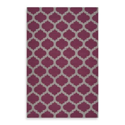 Evesham 2-Foot 6-Inch x 8-Foot Runner in Rasberry Wine/Grey