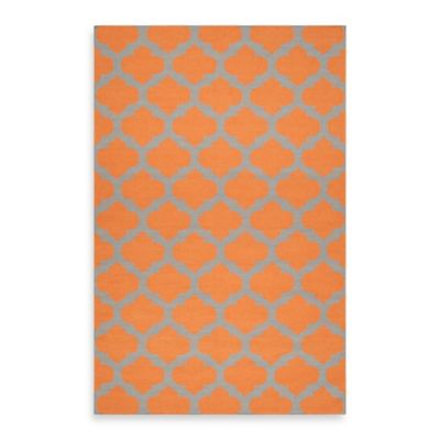 Evesham 2-Foot 6-Inch x 8-Foot Runner Rug in Pumpkin/Flint Grey