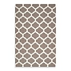 Evesham Rug in Taupe/White