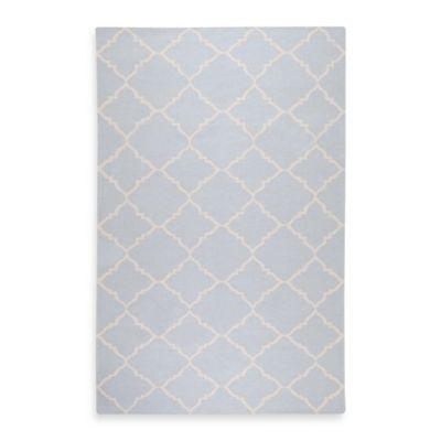 Winslow 2-Foot 6-Inch x 8-Foot Runner in Pale Blue/Ivory