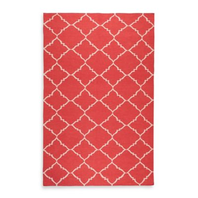 Winslow Trellis 5-Foot x 8-Foot Rug in Red/Ivory